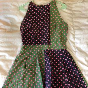 Canvas mini dress